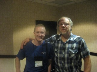 Klayt Morfoot, veteran and Eau Claire WI 9/11 truth activist & me at the VFP Convention