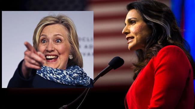 PressTV-Gabbard urges Clinton to 'face her directly' in 2020